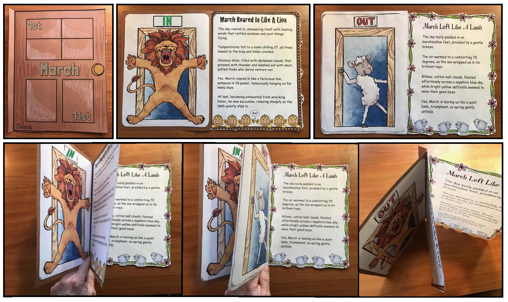 lion and lamb activities, weather activities, weather games, weather centers, march bulletin boards, march writing prompts, lion crafts, lamb crafts, sheep activities