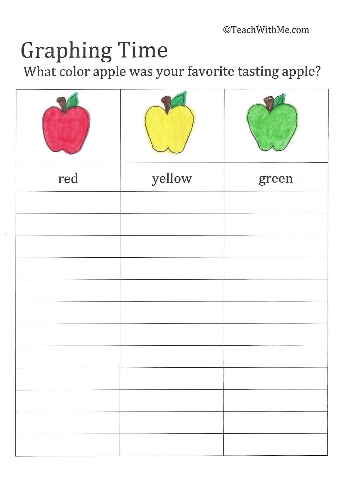 apple graphs, apple art, apple activities, september art, back to school activities, apple glyphs, back to school glyphs,