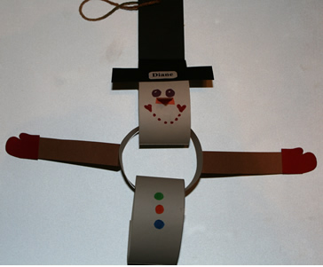 paper chain snowman craft, winter art projects for kids, January art projects for preschool kindergarten and first grade