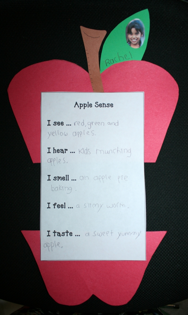 Apple Sense Writing Activity