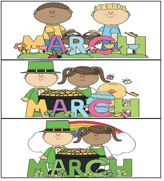 Calendar Cards For March