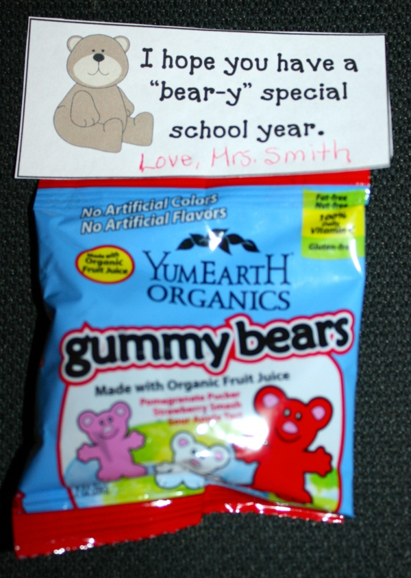 Back To School Gummy Bear Treats