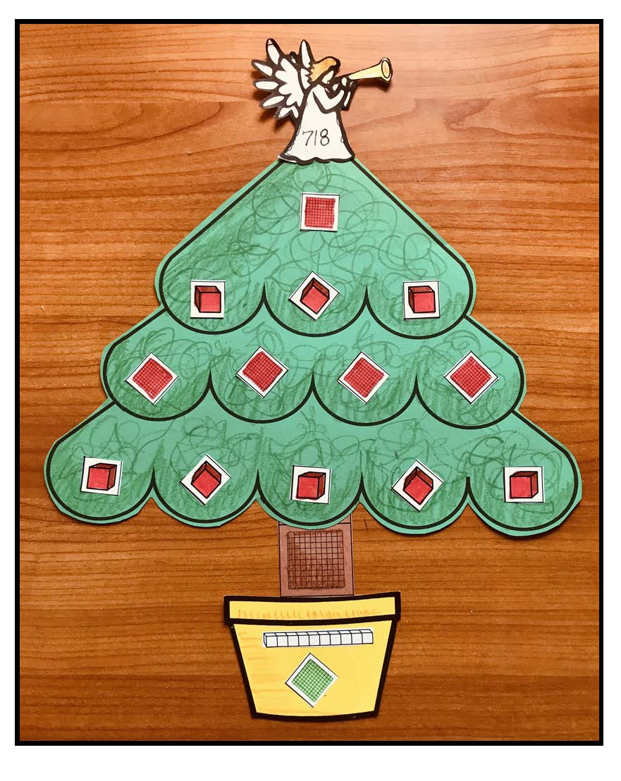 christmas crafts, christmas tree crafts, place value activities, math centers, math bulletin boards, Christmas bulletin boards, math crafts