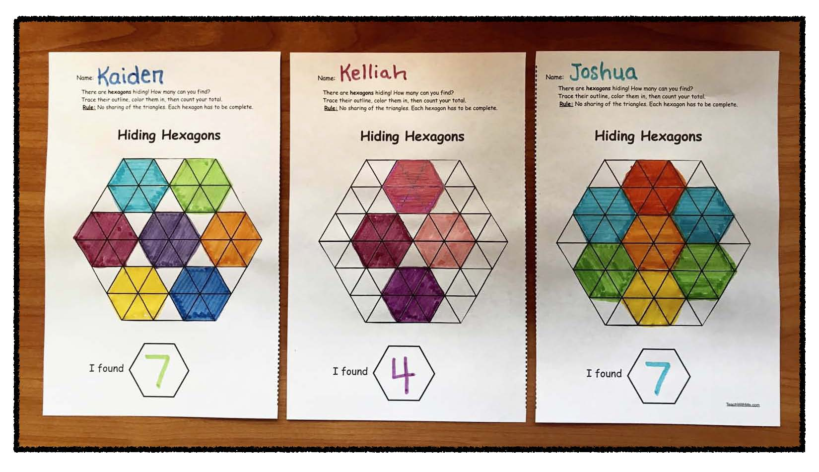 Hiding hexagon game