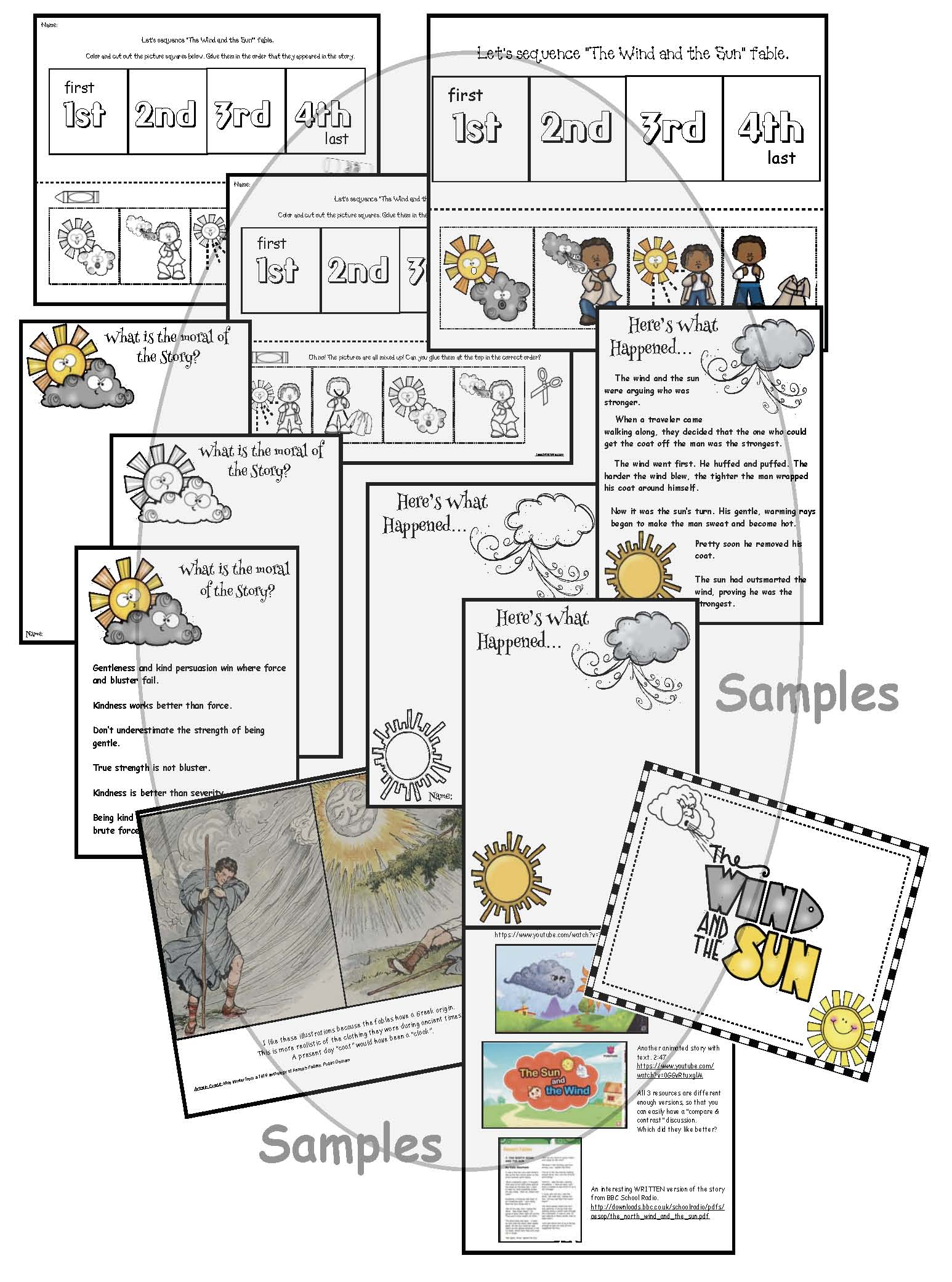 aesops fables, aesops fables crafts, aesop fables, acticities for aesops fables, the sun and the wind, the wind and the sun, sun activities, wind acticities, mothers day cards, mothers day crafts, sequencing a story activities, retelling a story activities, free mothers day activities