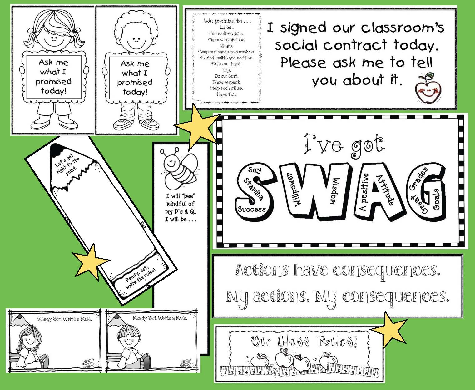 Pages from NEW preview for our class rules packet 2 2