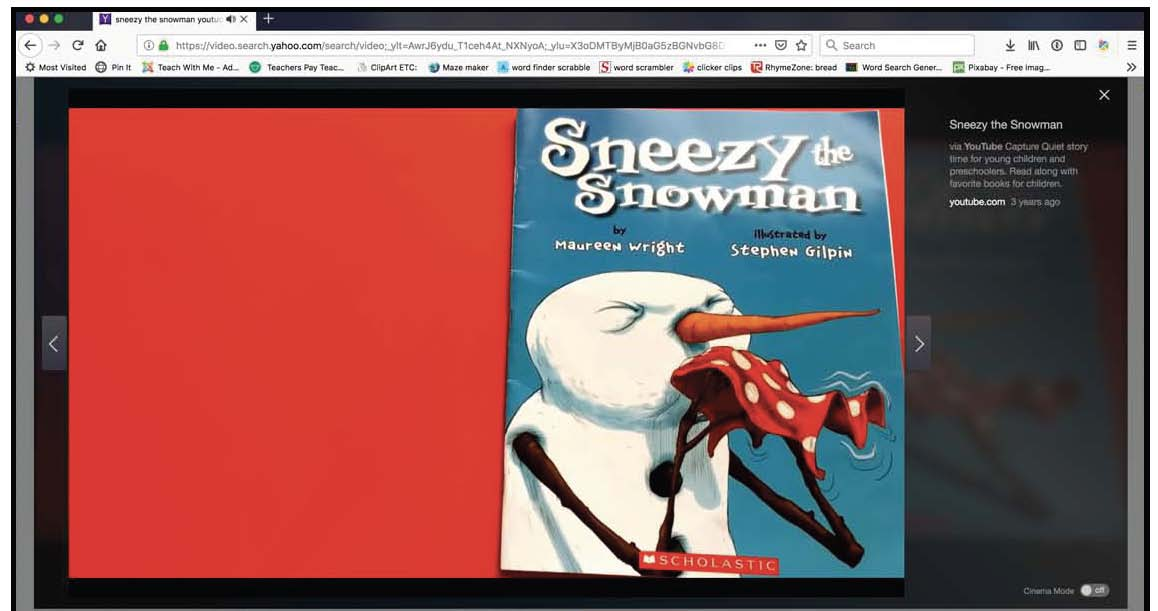 sneezy the snowman video