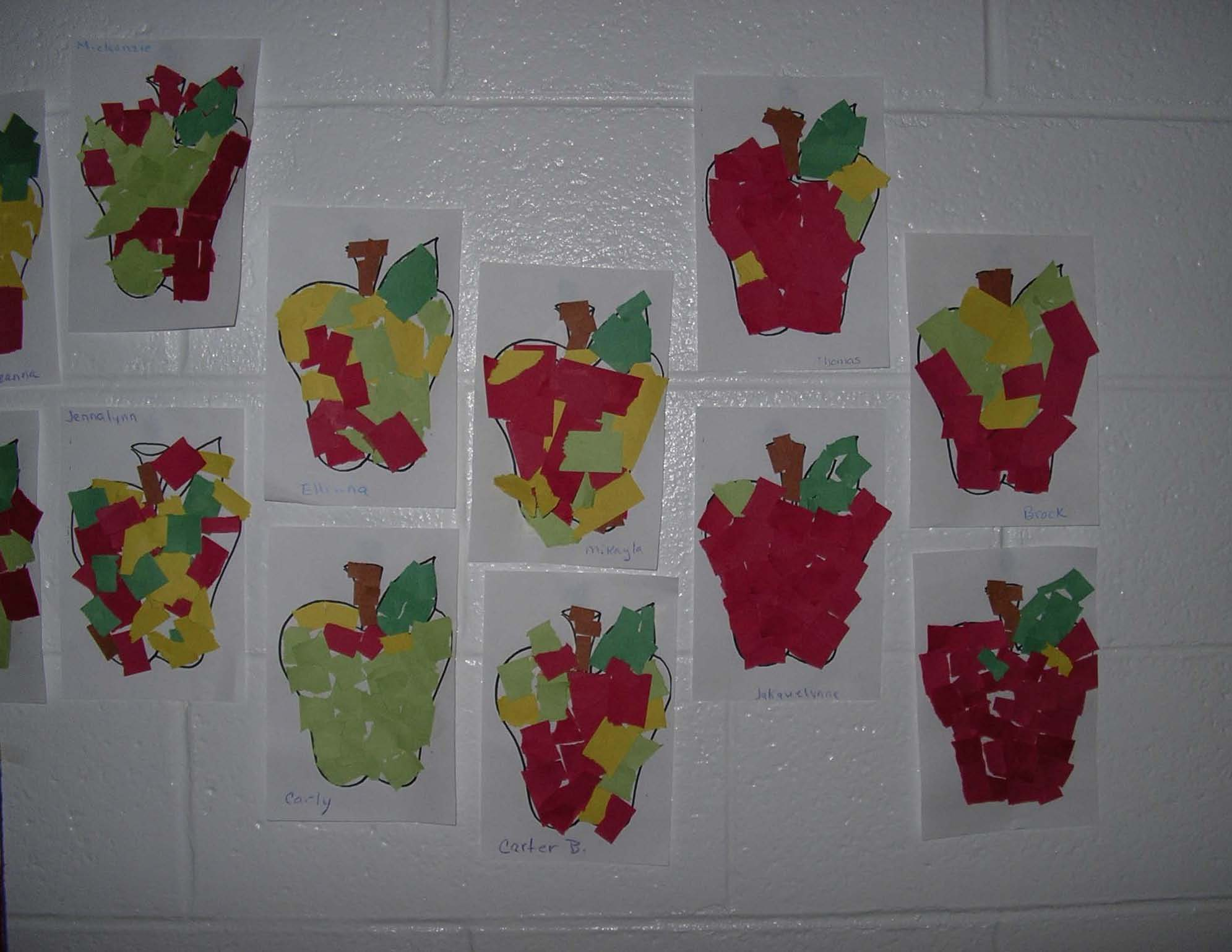 apple activities, apple centers, apple art, apple arts and crafts, quick and easy art projects, quick and easy apple activities, quik and easy apple crafts, apple poems, apple bulletin boards, ideas for september bulletin boards, rip and tear apples, melted crayon apples, apple fingerprint trees, apple tree with a child's hand, finger print apples, keepsake crafts for kids,