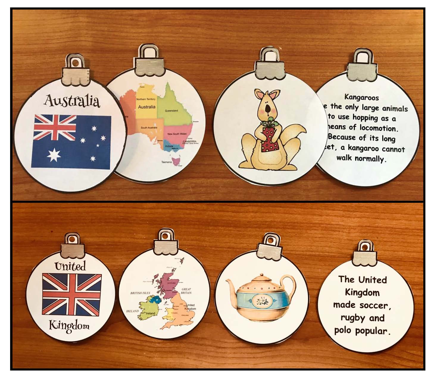 Christmas around the world crafts, Chrismas around the world activities, Christmas around the world ornaments