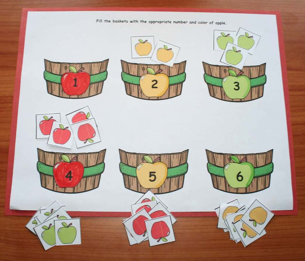 apple activities, apple games, apple math, apple graphing, apple colors,