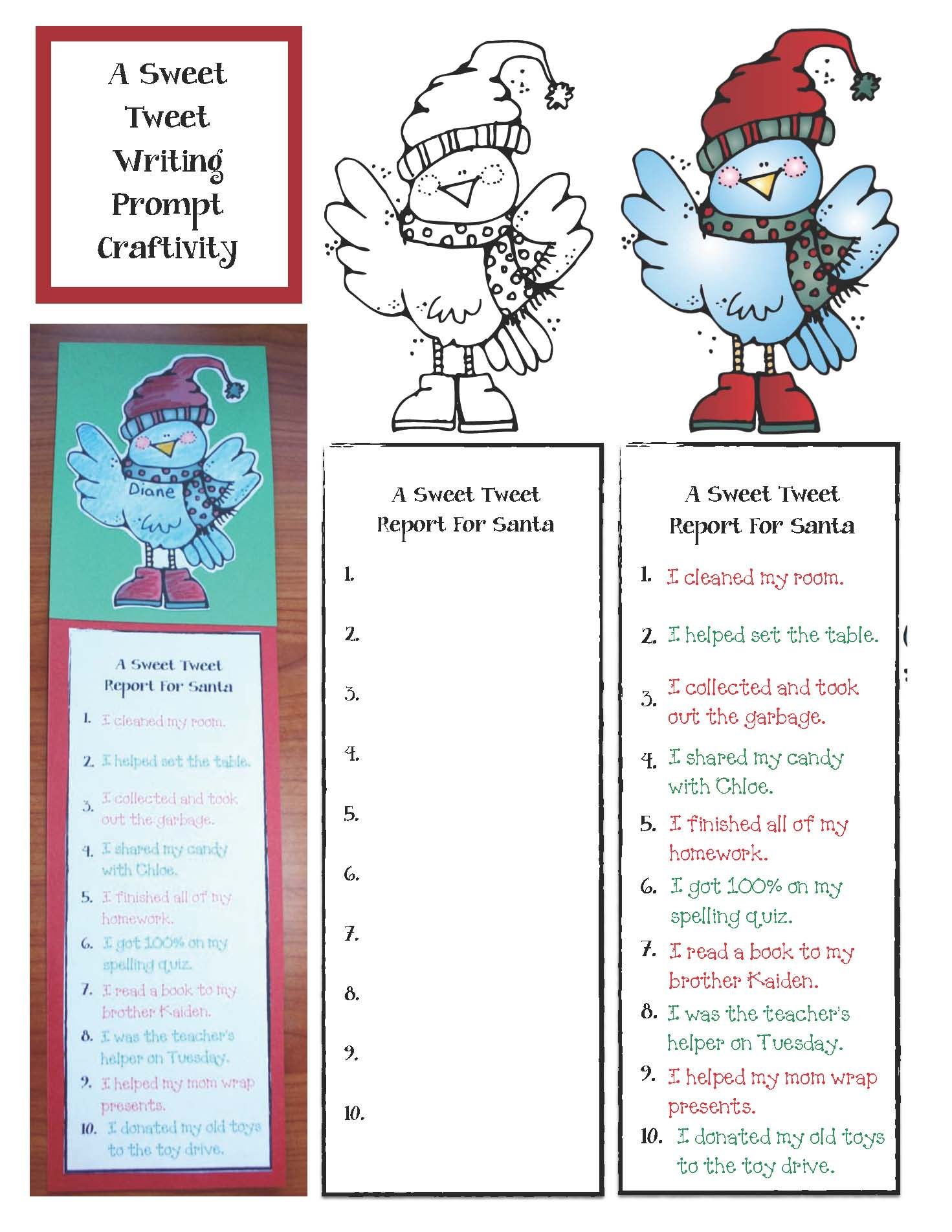 Christmas writing prompt craft