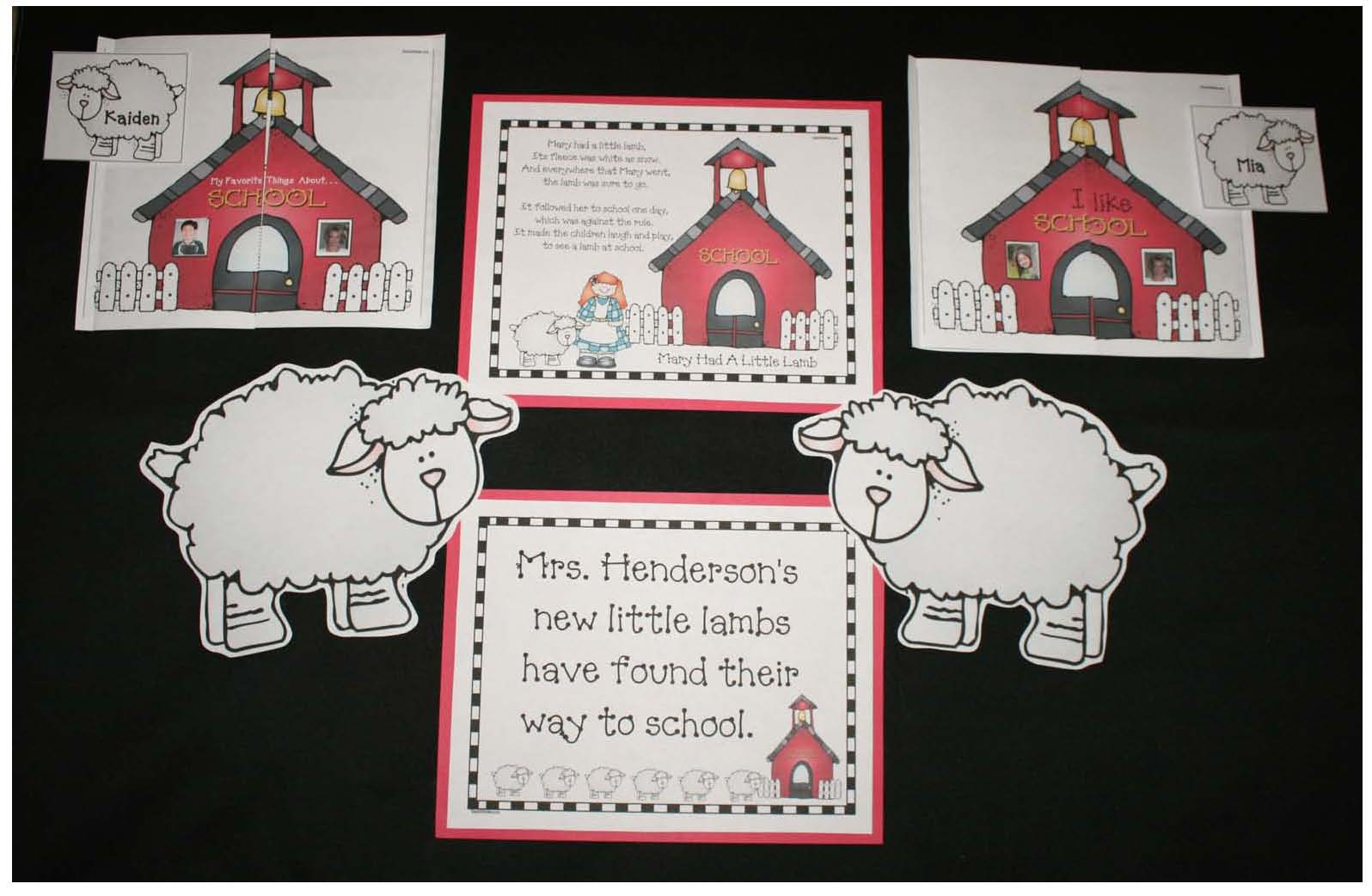 back to school activities, back to school crafts, back to school bulletin boards, back to school writing prompts, nursery rhyme crafts, nursery rhyme activities, mary had a little lamb background, mary had a little lamb poster, mary had a little lamb crafts, nursery rhyme bulletin boards, activities for Mary had a little lamb