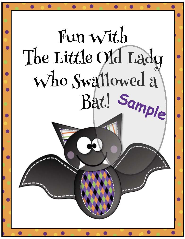 activities for there was an old lady who swallowed a bat, sequencing & retelling a story activities, halloween party ideas, Halloween craft ideas, bat activities, October literacy centers, October bulletin board ideas, old lady activities