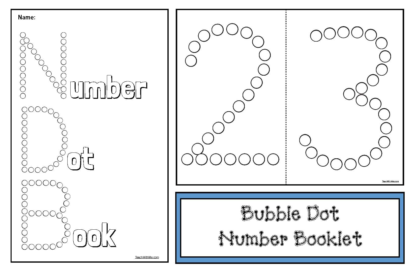 number booklet, number posters, coloring pages for numbers, number recognition activities, counting activities, sequencing numbers, math posters, number puzzles, dot numbers, math centers, number crafts, math bulletin boards