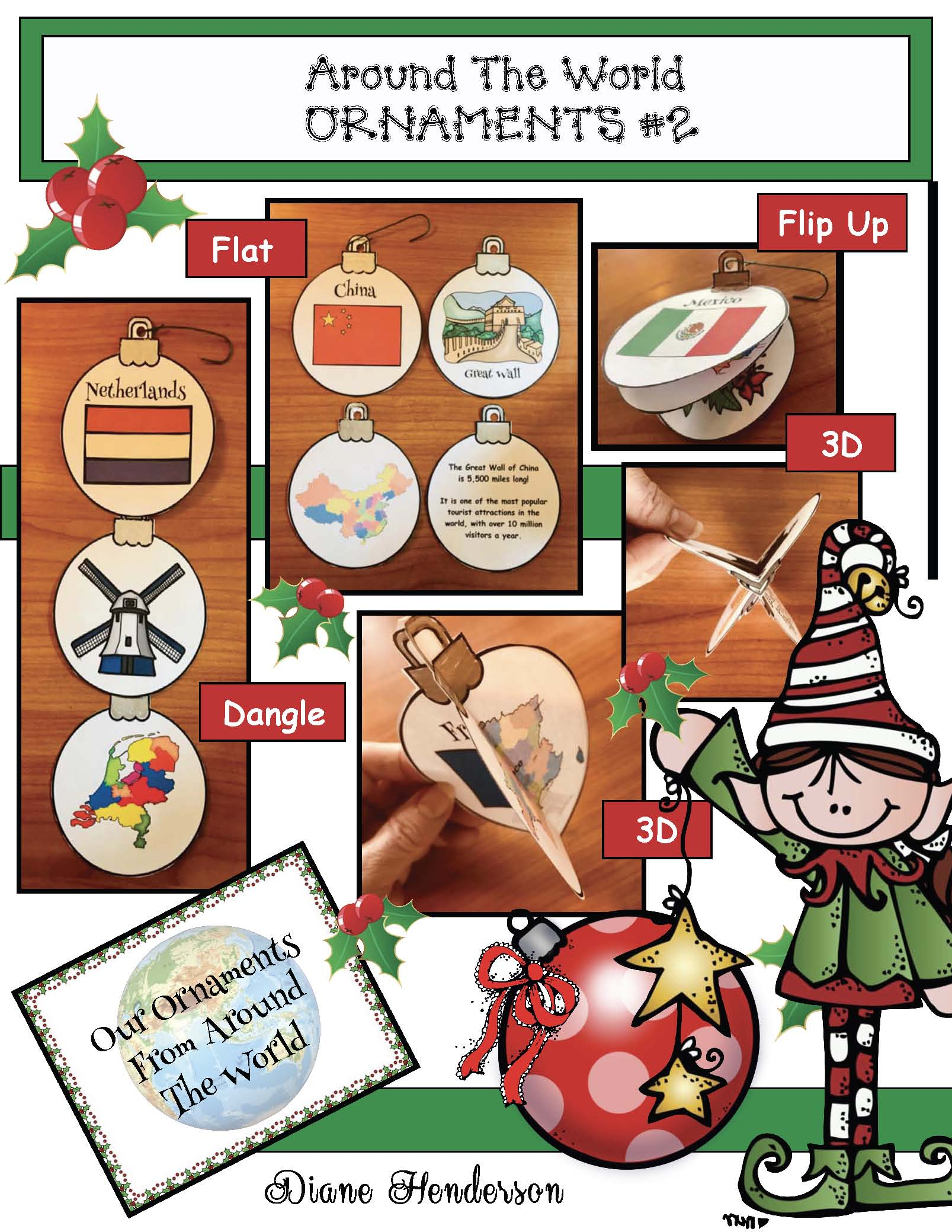 Christmas around the world ornaments, christmas around the world crafts