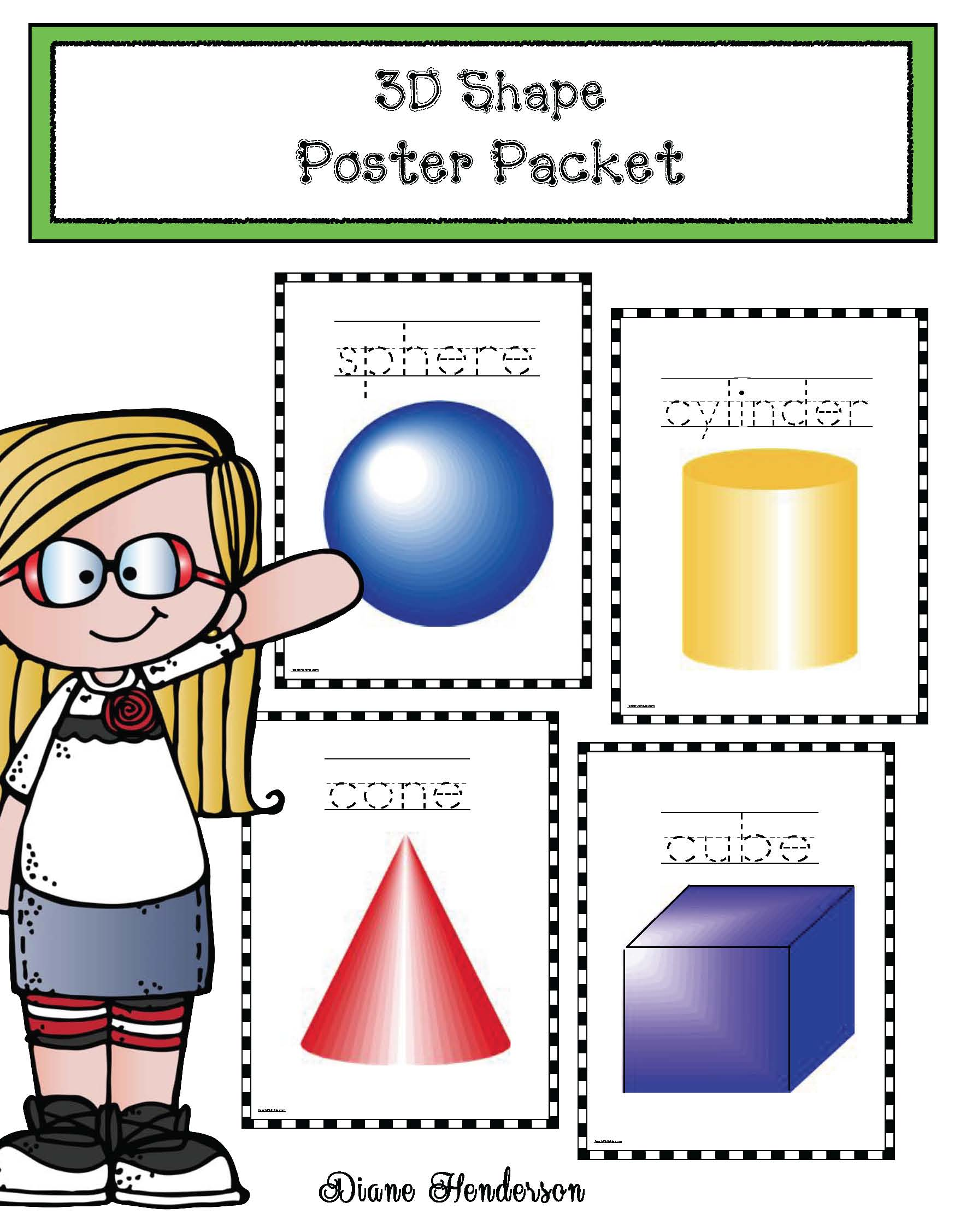 3D posters 3D shapes 3D shape activities 3D shape games