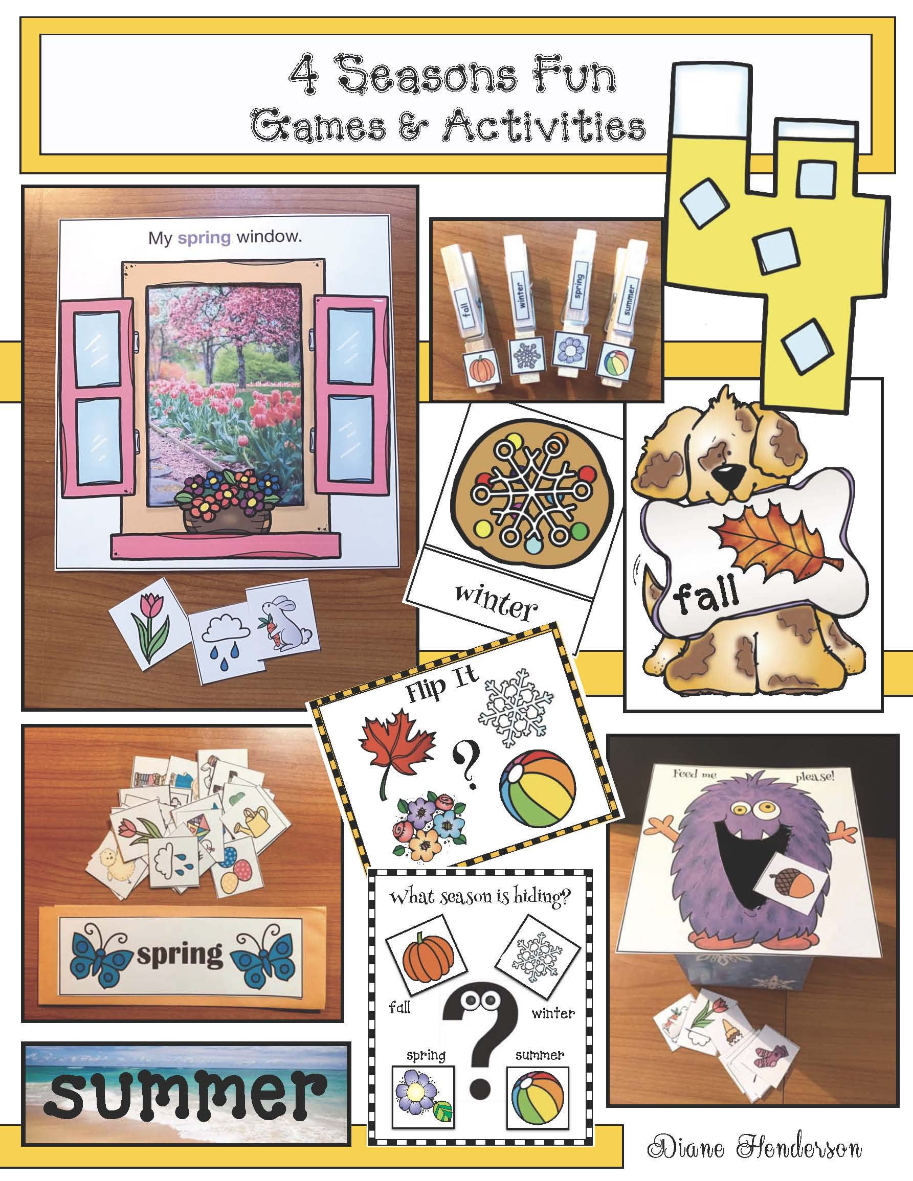 4 seasons games, 4 sesons puzzles, 4 seasons crafts, 4 seasons posters, 4 seasons bulletin boards, 4 seasons activities, 4 seasons centers