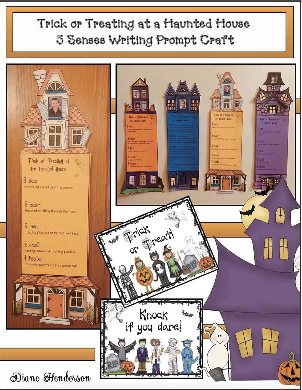 cov 5 senses trick or treating haunted house craftivity Page 1 2