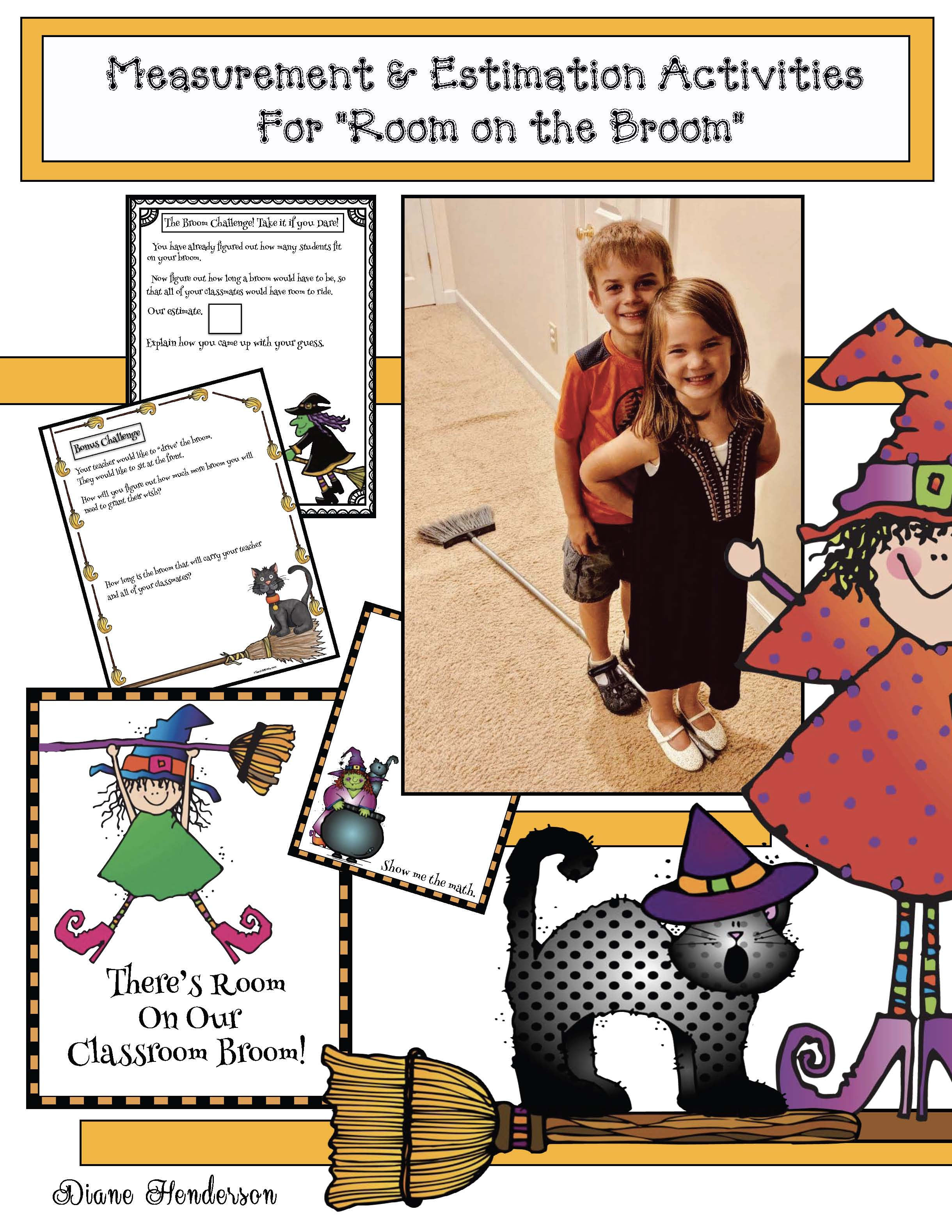 Activities for Room on the Broom, Halloween activities, Measurement activities for fall, small group activities for Halloween