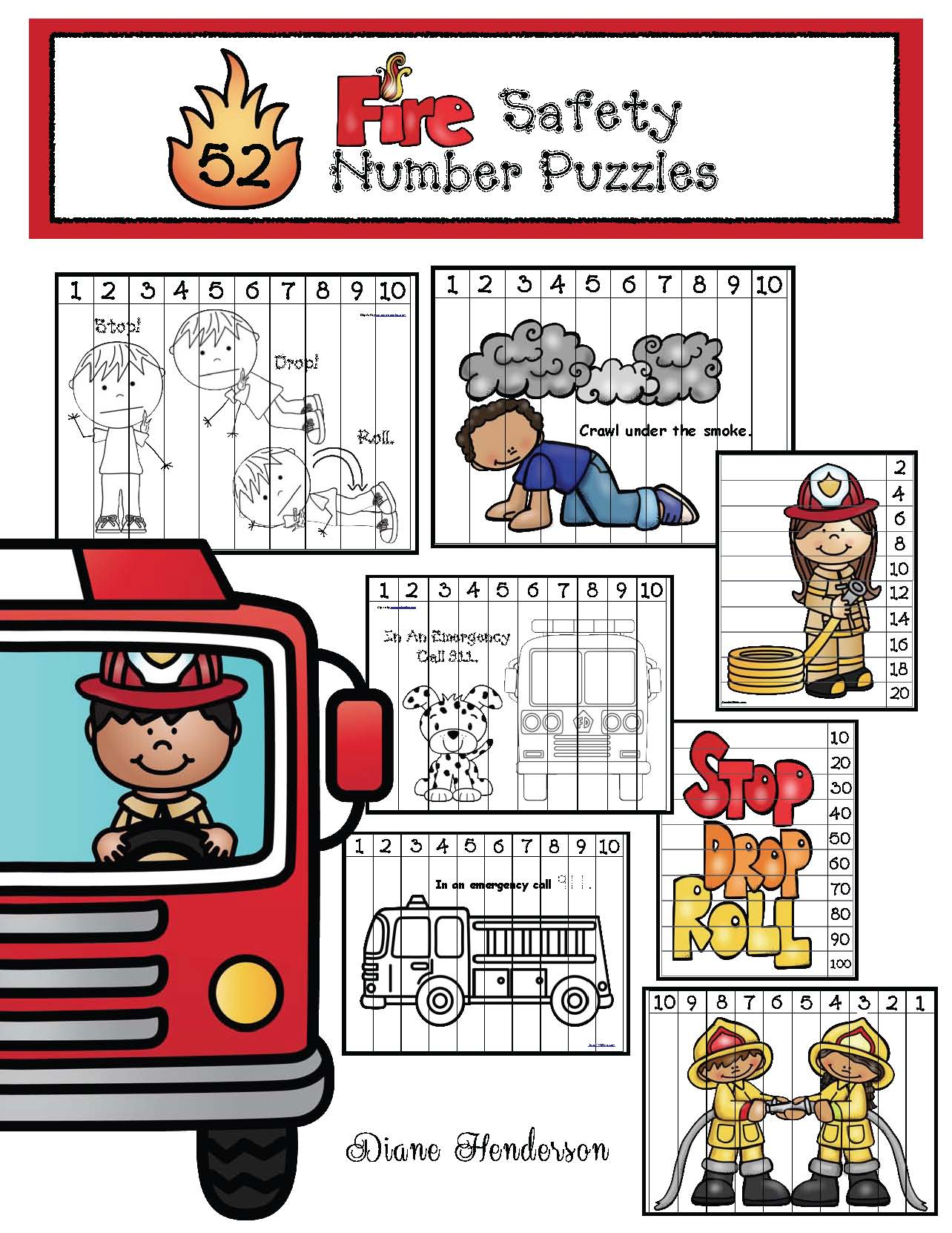 cov fire safety number puzzles