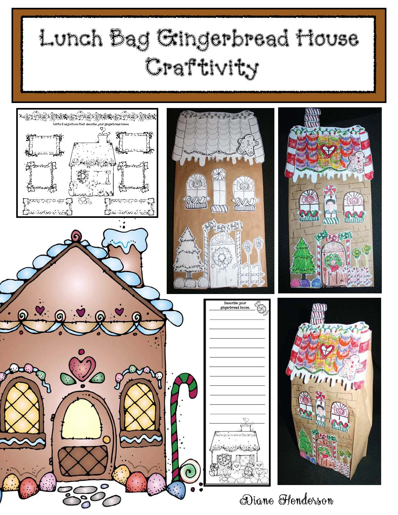 gingerbread crafts, gingerbread house, christmas crafts