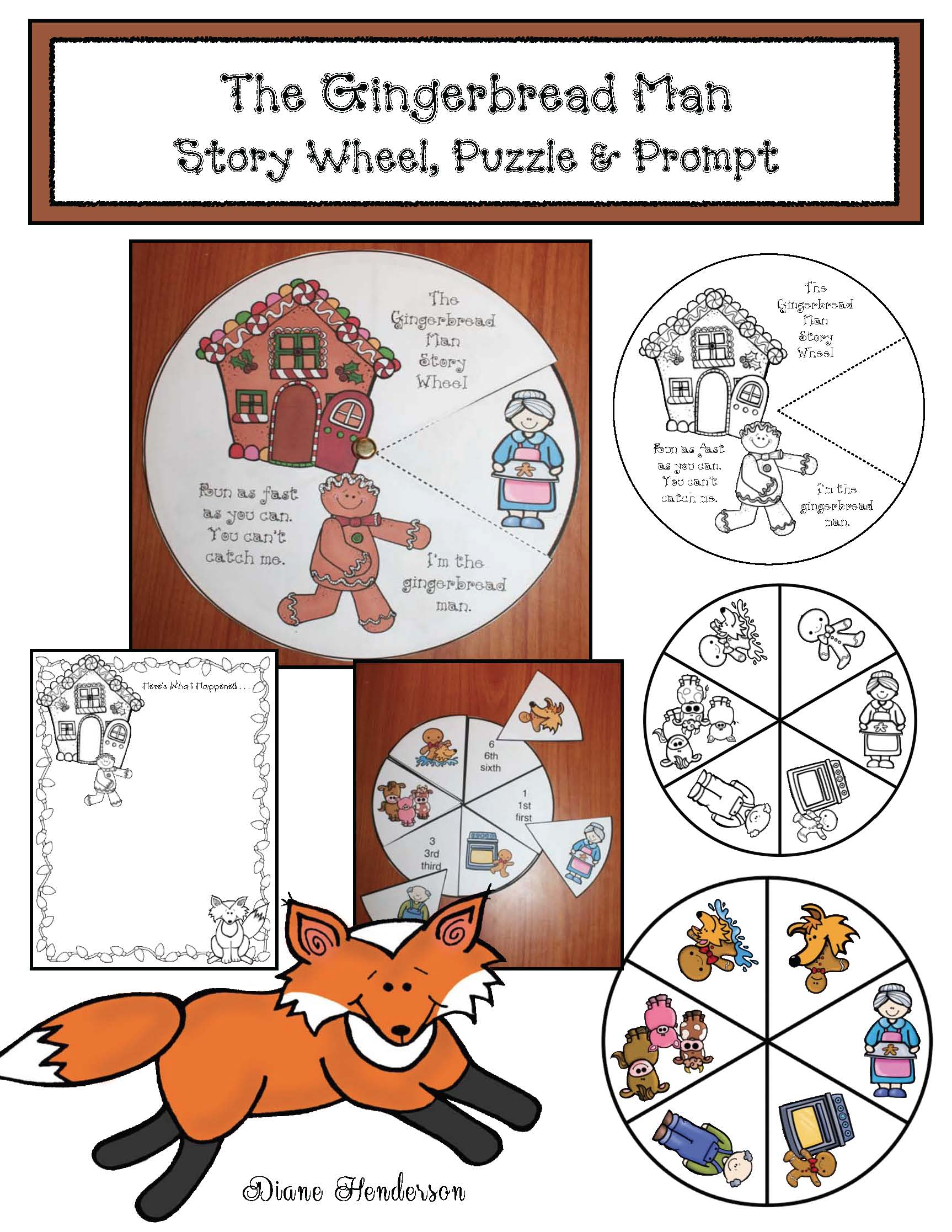 gingerbread crafts, gingerbread activities, gingerbread games, common core gingerbread, activities for the gingerbread man story, story elements for the gingervread man, venn diagram activities, writing prompts for December, class made books for December, Daily 5 actiivities for December, story wheels