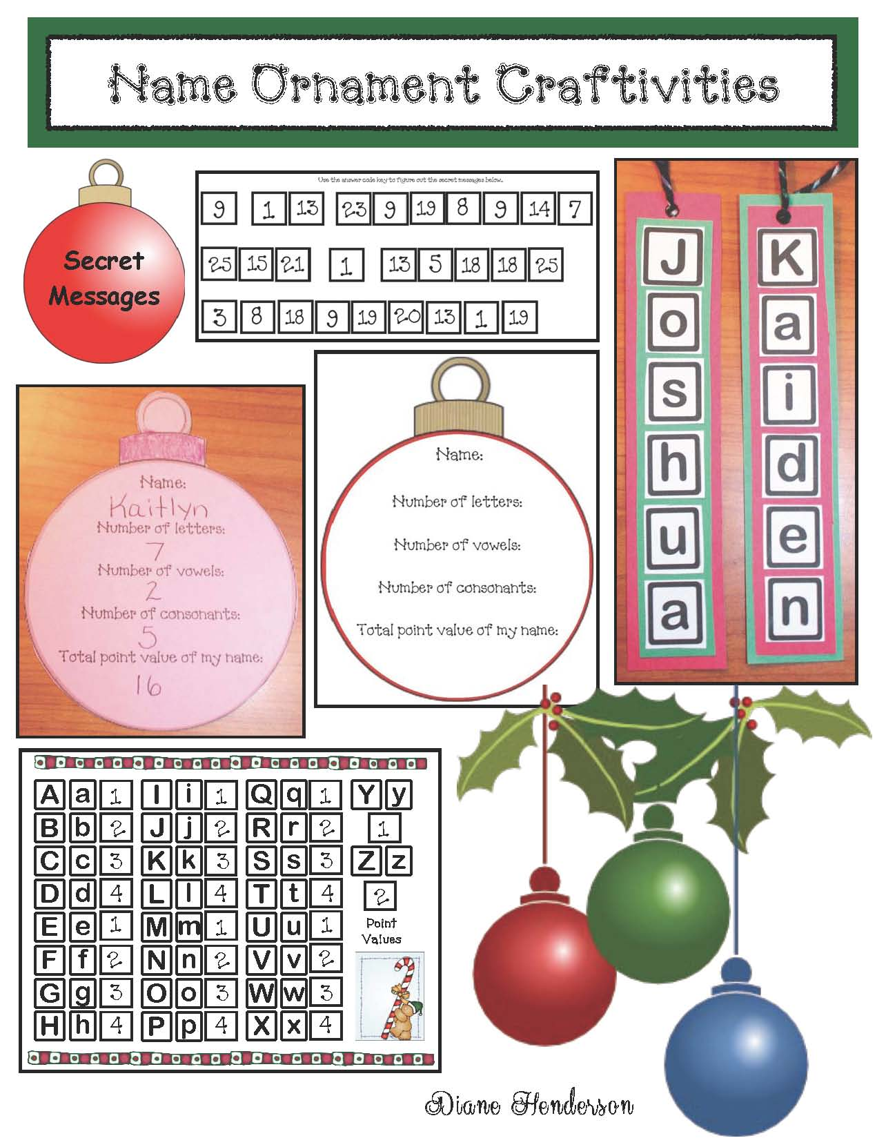 Christmas crafts, christmas ornaments, christmas activities