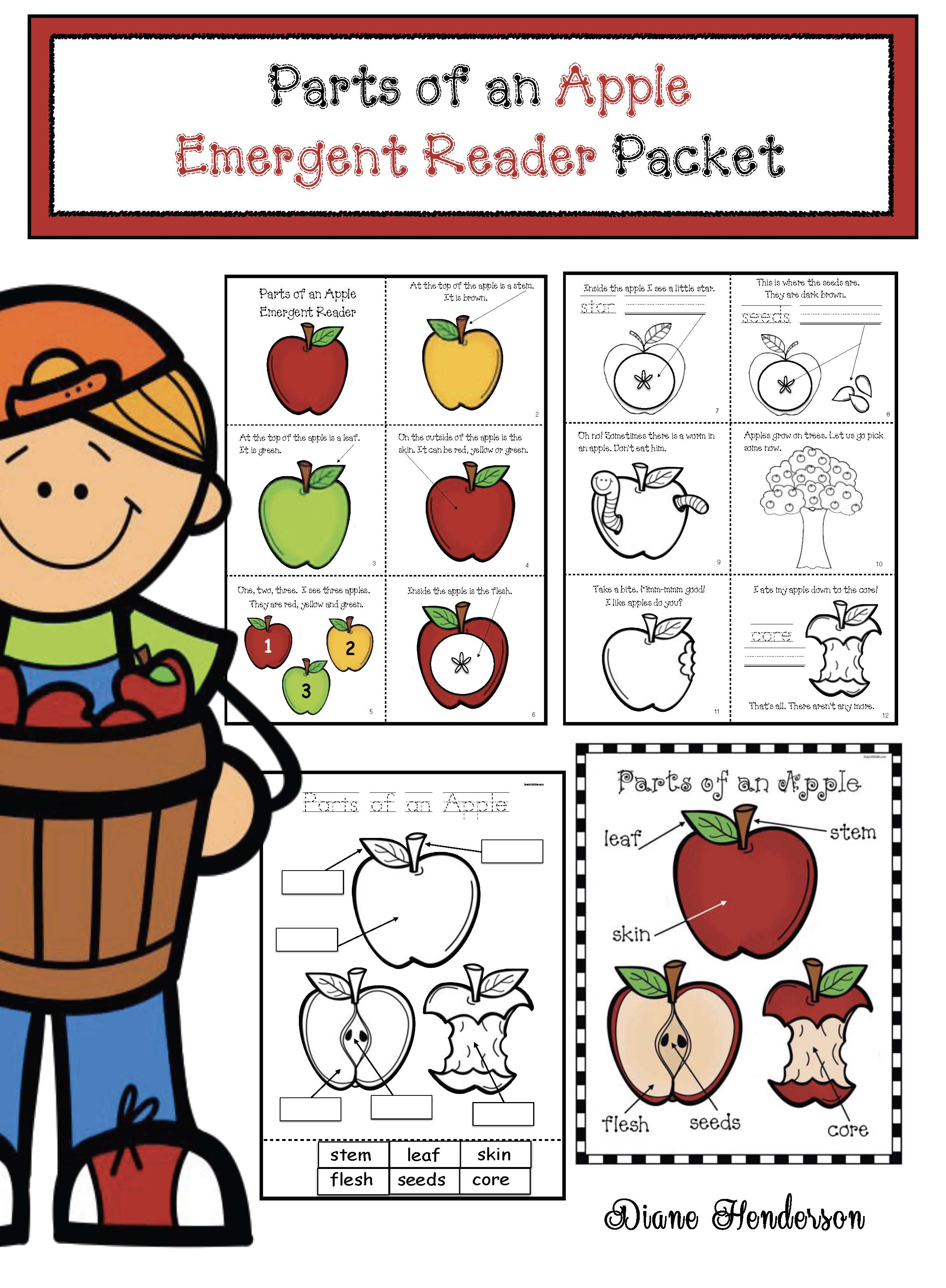 cov parts of an apple emergent reader apple crafts, apple centers, apple bulletin boards, melted crayon activities, label an apple activities, 3parts of an apple emergent reader, emergent readersD apple craft, apple centerpieces