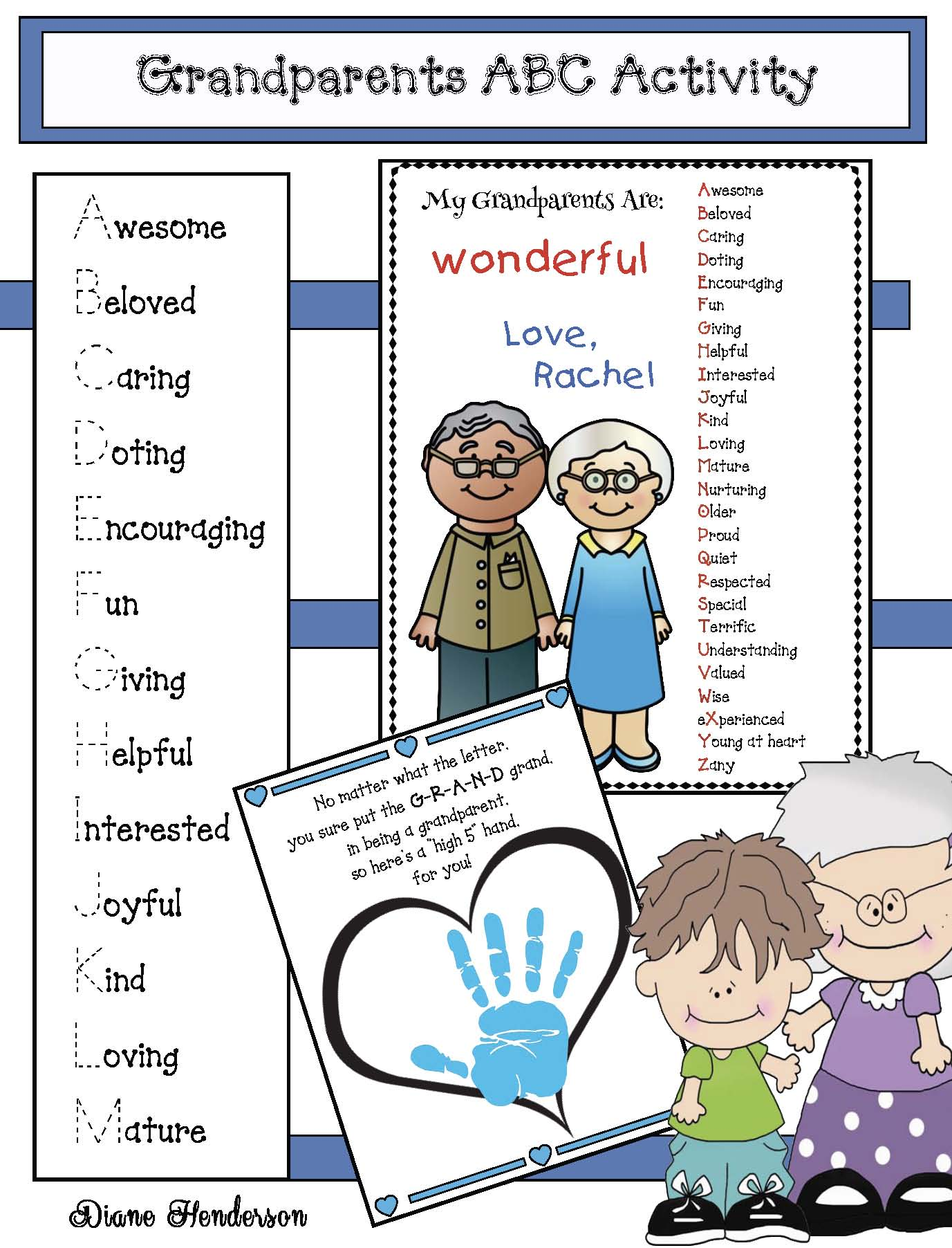 activities to do with grandparents, grandparents day activities, grandparents day crafts, handprint crafts, keepsake crafts, grandparents day invitation,