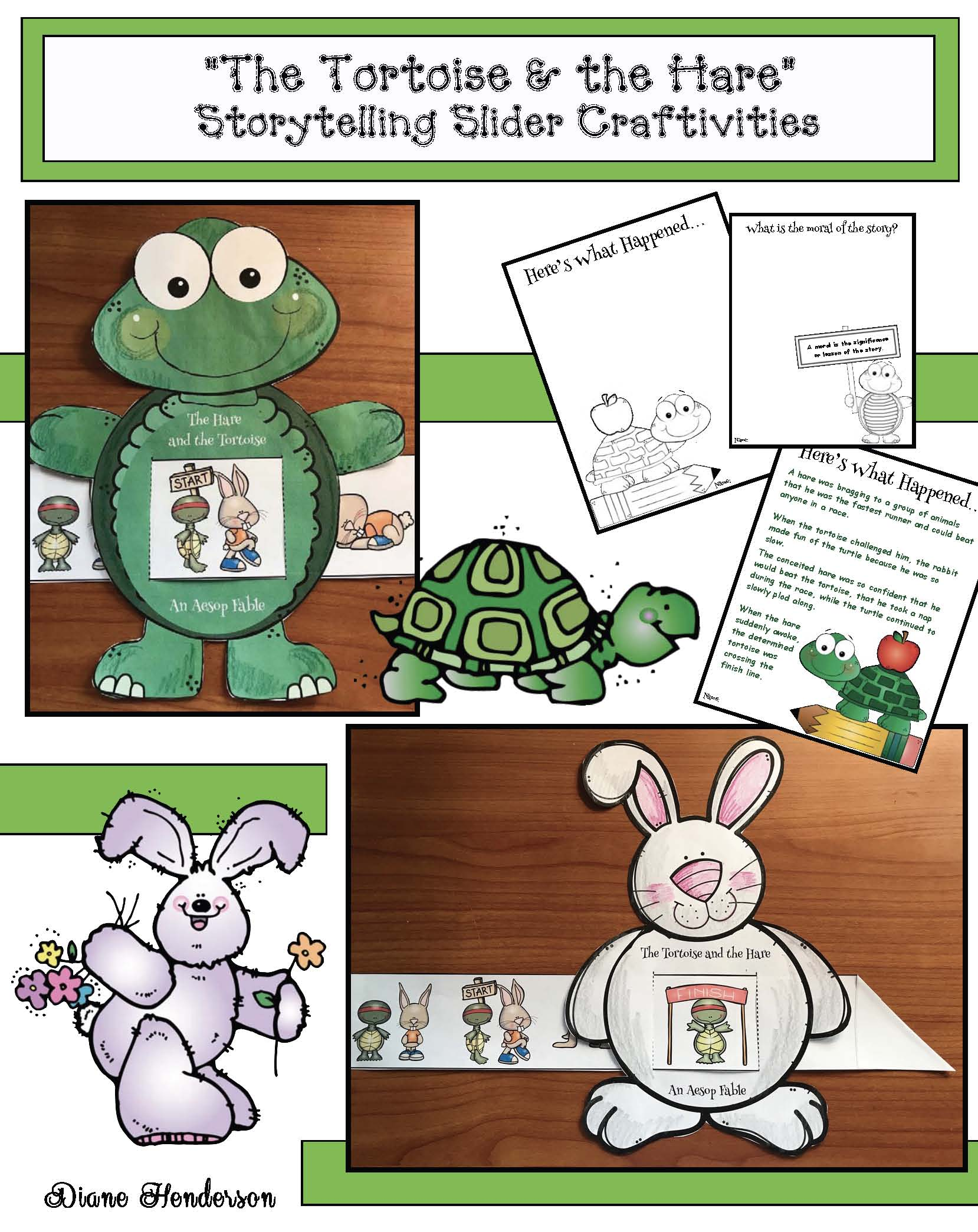 the tortoise & the hare fable, the hare & the tortoise fable, aesops fables, activities for aesops fables, fables, the moral of the story, aesop fables crafts