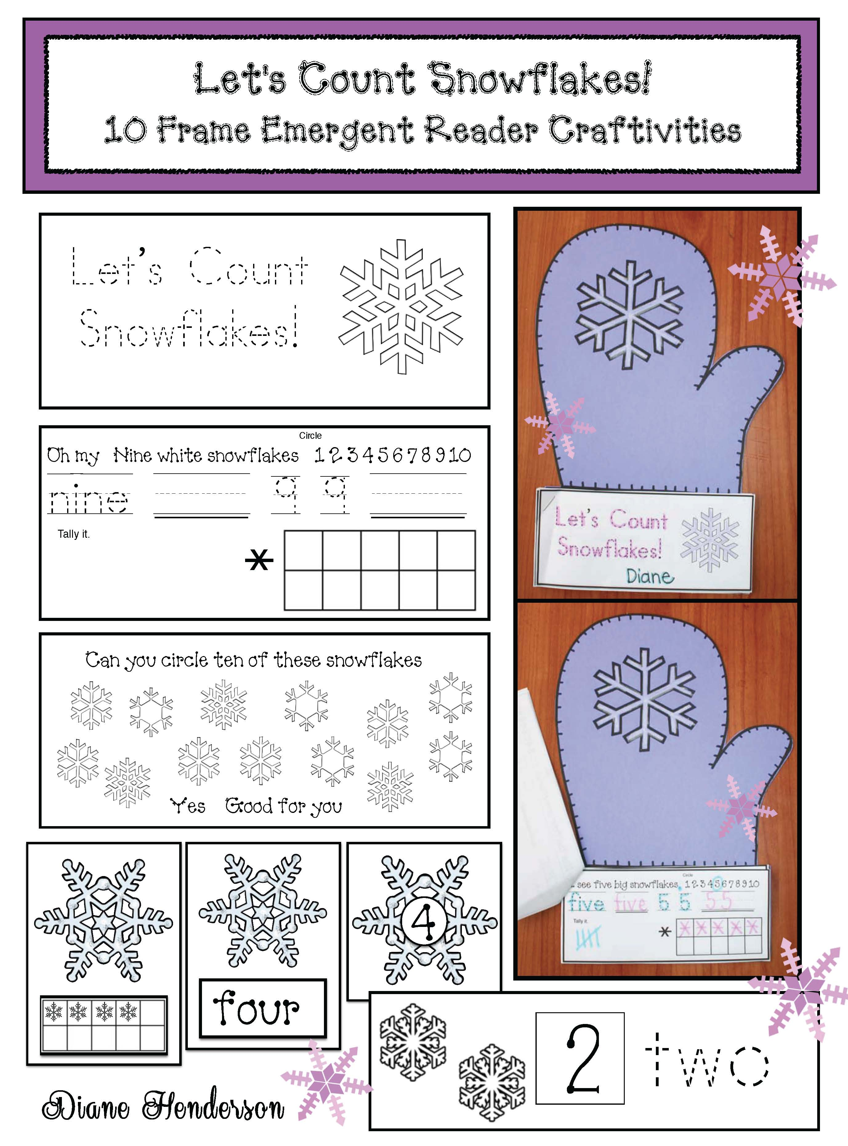 mitten activities, mitten crafts, mitten math, class made winter books, january writing prompts, activites to go with jan bretts the mitten, magic e activities, silent e activities, mitten puzzles, verb activities, snowflake activities, itten centers,