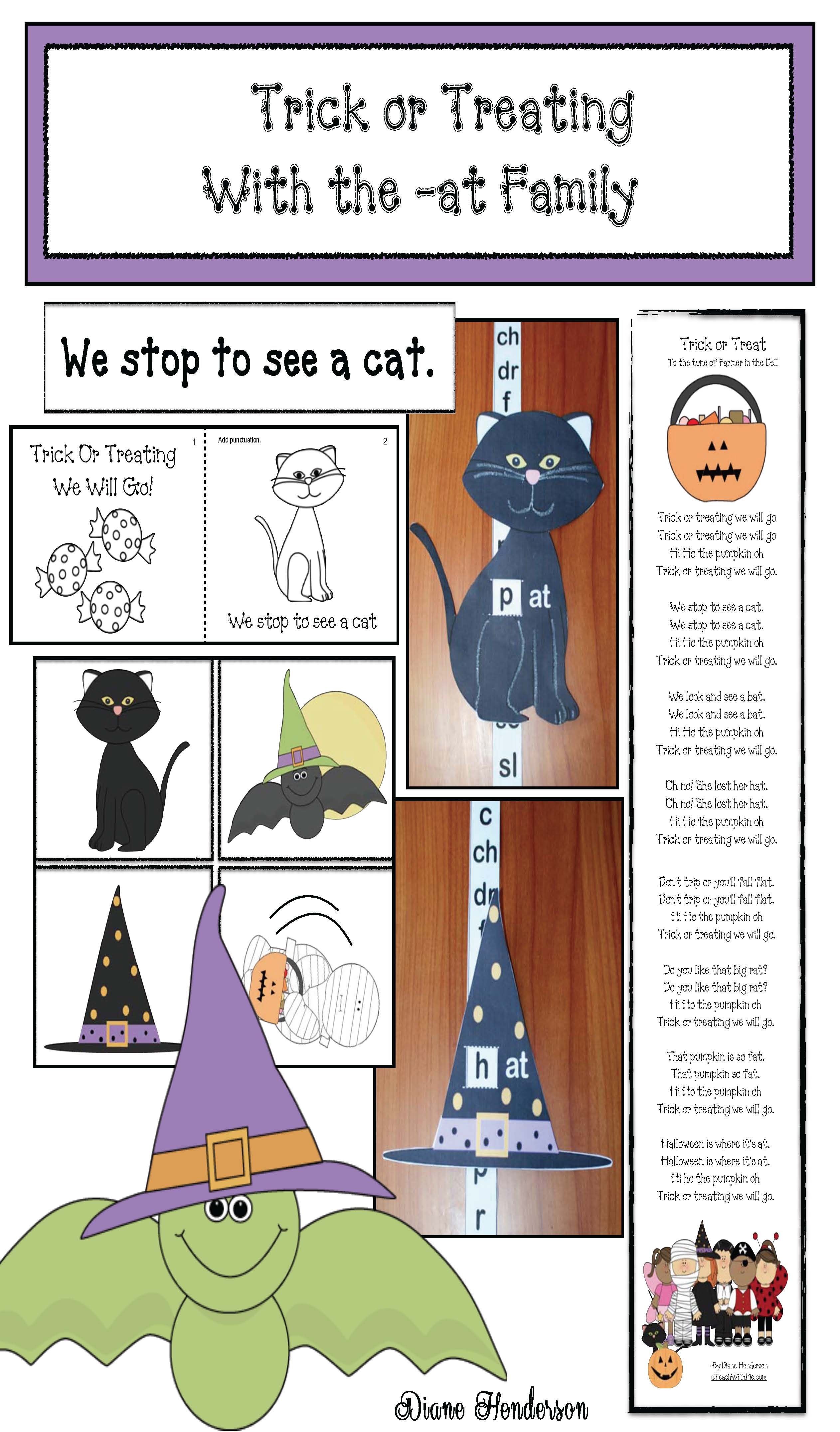 at family activities, Dolch sight word activities, Halloween activities, Halloween crafts, sight word crafts, sight word games, cat crafts, bat crafts, emergent reader, Halloween crafts that teach