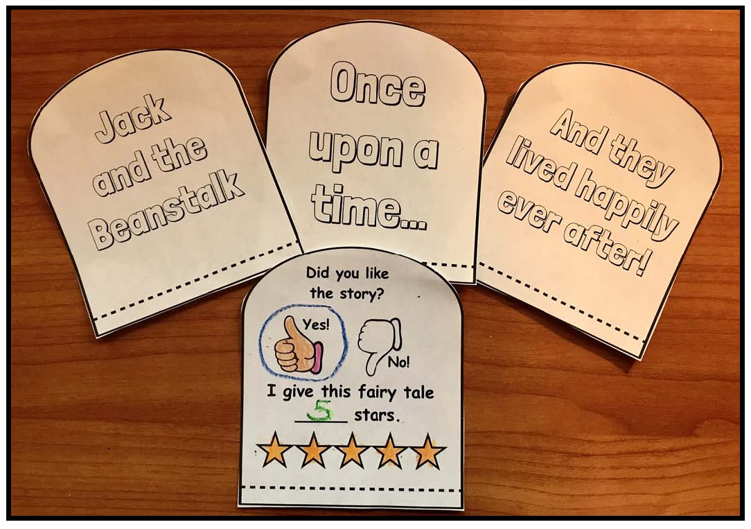 fairy tale crafts, fairy tale activities, jack and the beanstalk activities, jack and the beanstalk crafts, retelling a story activities, sequencing a story activities, writing prompts for fairy tales