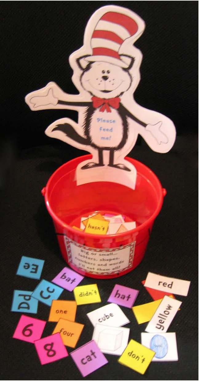 cat in the hat activities, cat in the hat games, alphabet games, word games, seuss centers, math centers, Seuss activities seuss crafts, word work games