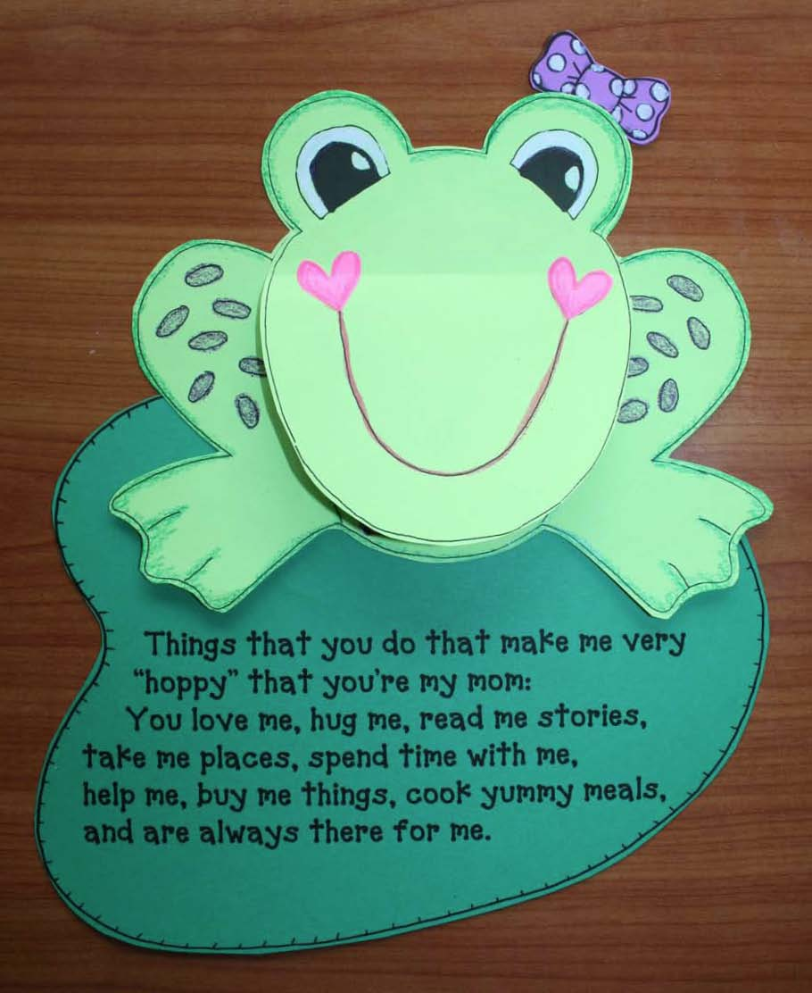 mothers day cards, mothers day activities, frog crafts, mothers day writing prompts, ladybug crafts, back to school activities, end of the year activities, bee crafts,