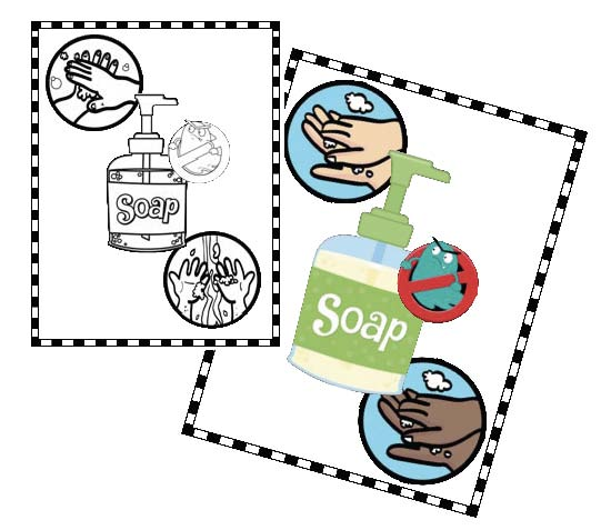 germ blasting soap posters