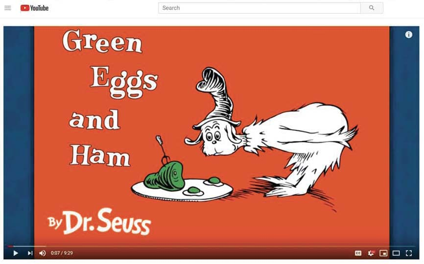 green eggs and ham video on youtube