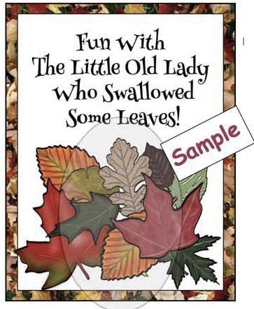 little old lady who swallowed some leaves poster