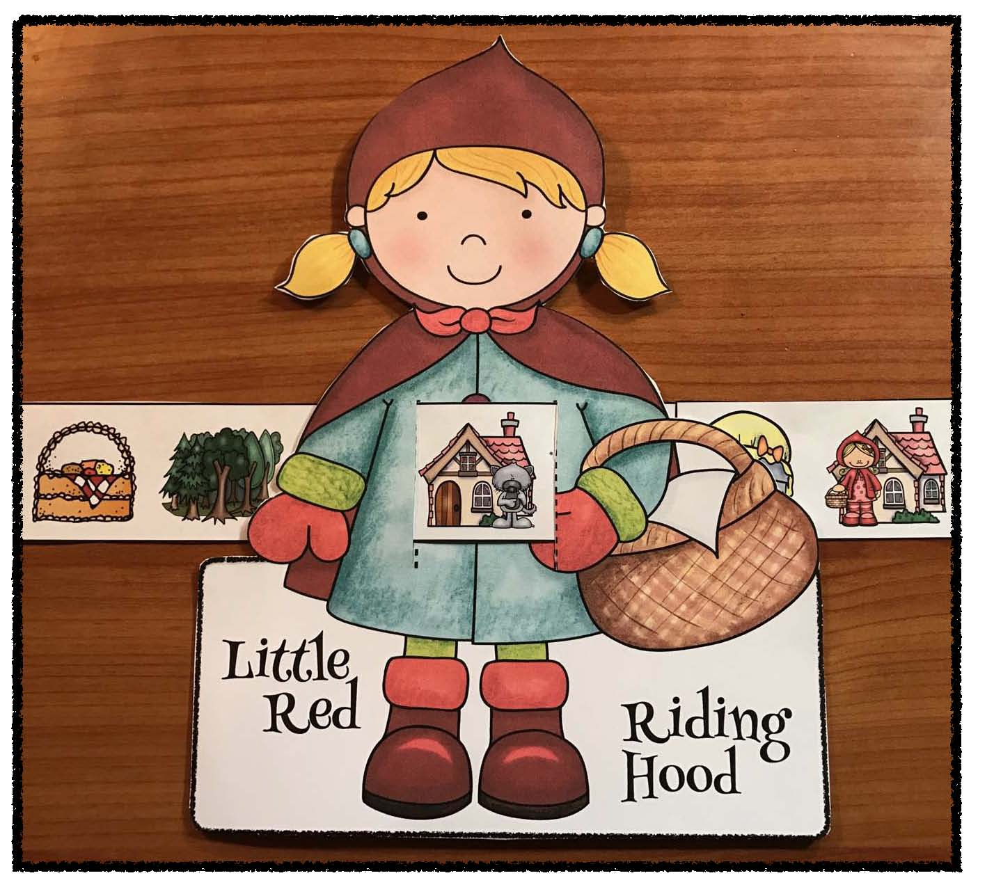 little red riding hood activities, little red riding hood crafts, fairy tale activities, fairy tale crafts, sequencing a story activities, retelling a story activities