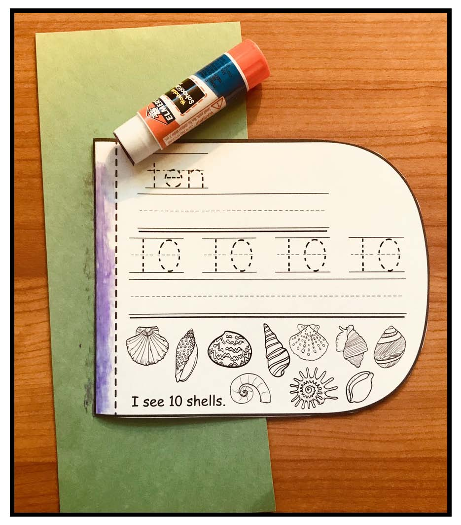 counting activities, recognizing numbers, number recognition activities, number booklets, counting booklets, assessing number recognition,