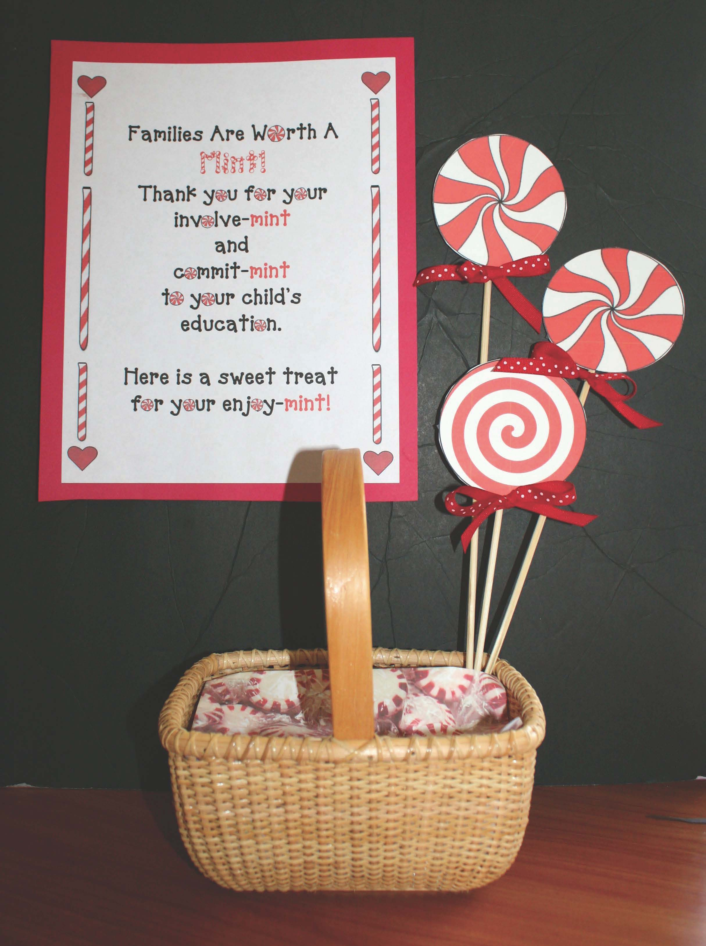 open house ideas, parent teacher conferences, ideas for parent teacher conferences, ideas for open house, back to school ideas, families are worth a mint, worth a mint sayings, worth a mint poster
