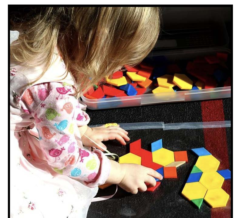 playing with pattern blocks
