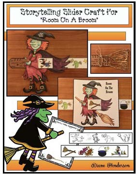 room on the broom slider activity, Activities for Room on the Broom, Halloween activities, Measurement activities for fall, small group activities for Halloween