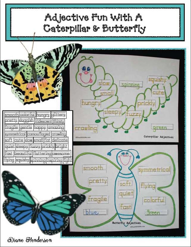 butterfly activities, butterfly crafts, butterfly puzzles, skip counting activities, color activities, the very hungry caterpillar activities, caterpillar crafts, describing caterpillars and butterflies