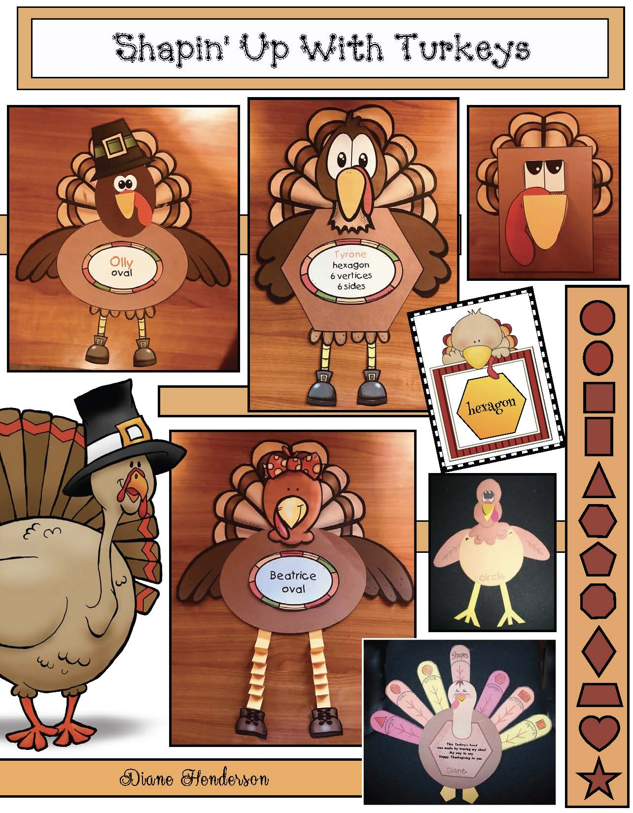 shapely turkey craft