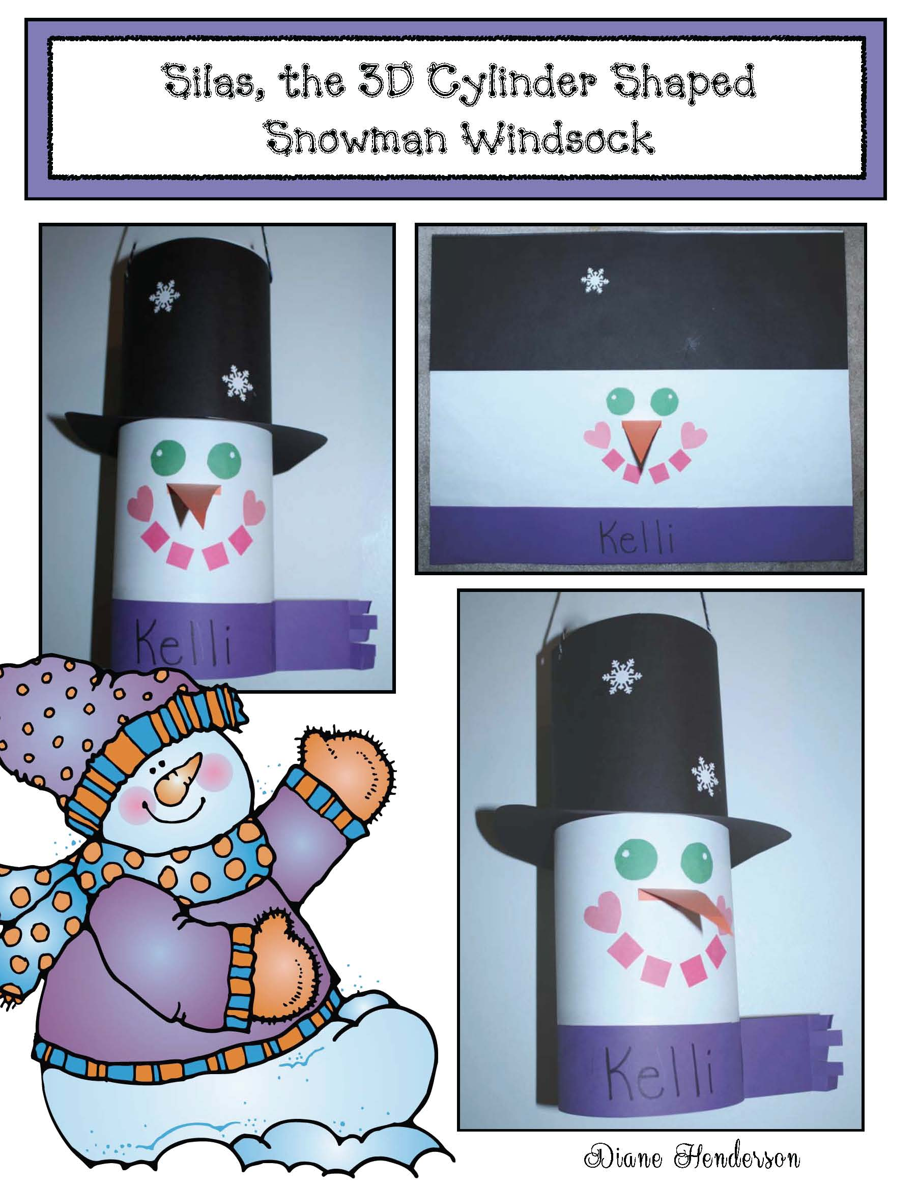 silas cover silas 3D shaped snowman windsock 2