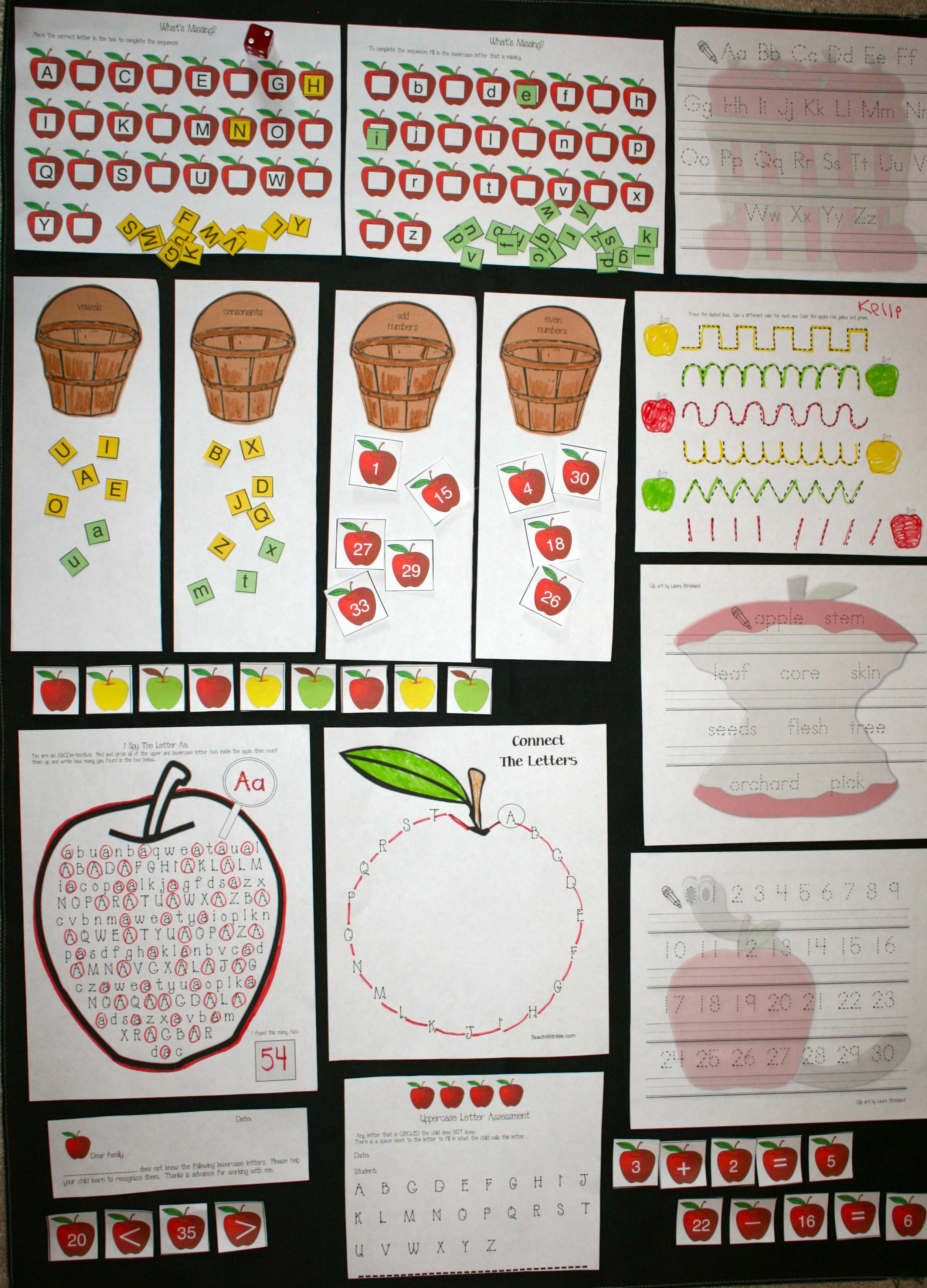 apple activities, apple alphabet cards, apple number cards, apple lessons, common core alphabet, apple worksheets, apple games, apple math activities, apple math centers, apple centers, apple alphabet activities, apple math activities, apple what's missing worksheets, greater and less than activities, apple sorting activities, vowels and consonants activities, letter activities, numbers cards from 1-120, red, green and yellow apple cards, free apple activities, addition and subtraction activities with apples, addition and subtraction activities, apple number line, apple anchor charts, apple alphabet anchor chart, alphabet assessments, assessments for upper case letters, assessments for lowercase letters, apple number anchor chart