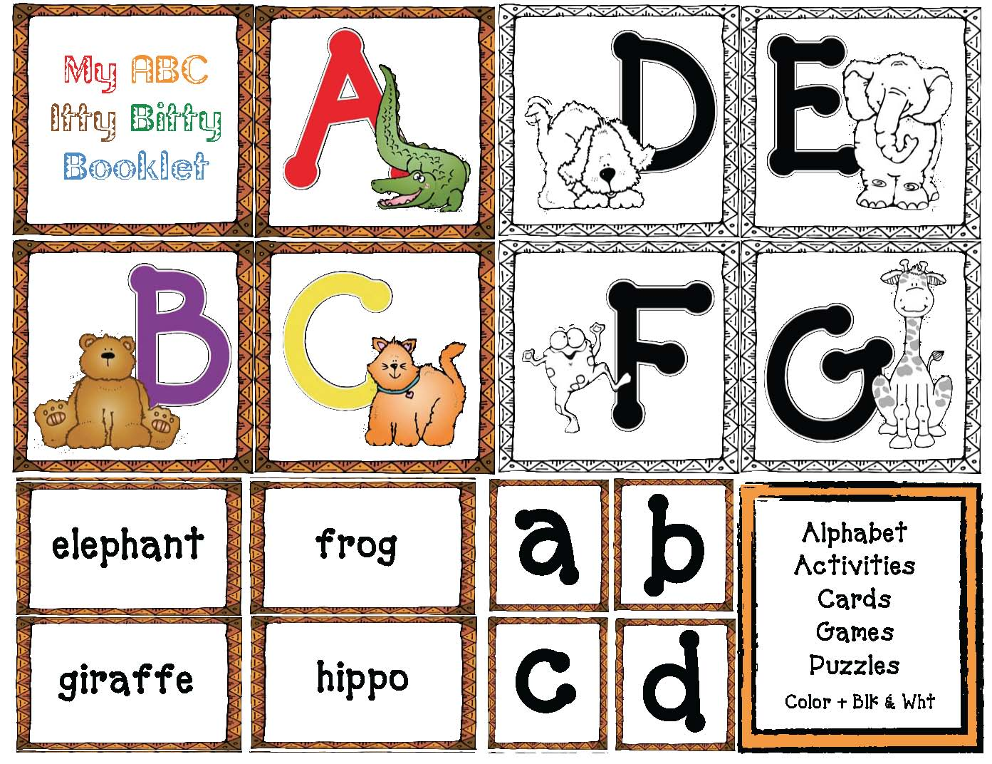 alphabet activities, alphabet games, alphabet worksheets, common core state standards for kindergarten and first grade, animal activities, animal games, animal lessons, zoo activities