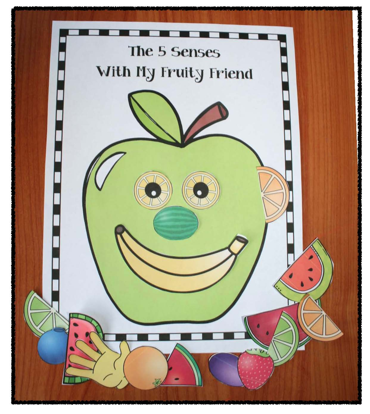 5 senses activities, 5 senses crafts, 5 senses centers, apple activities, apple crafts, apple centers