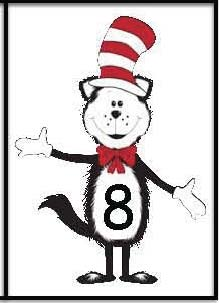 cat in the hat activities, seuss activities, seuss games, cat in the hat games, addition activities, subtraction activities, common core seuss, greater and less than activities, odd and even activities, cat in the hat number cards, cat in the hat math games, PK and K math worksheets, math symbol bookmark,